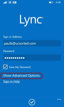 Lync 2013 Mobile Application