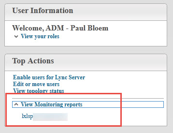 Skype for Business Control Panel