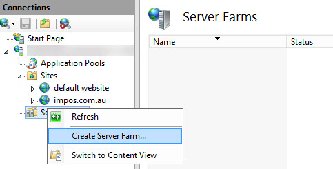 Create Server Farm