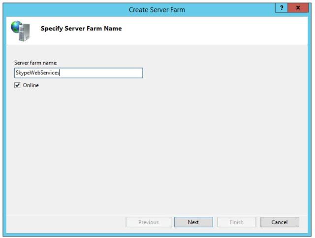Server Farm Name