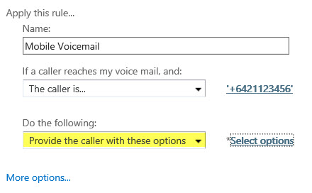 Caller Options
