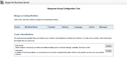 Response Group Workflow Page Blank