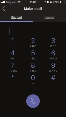 Mobile Phone Teams Dialer